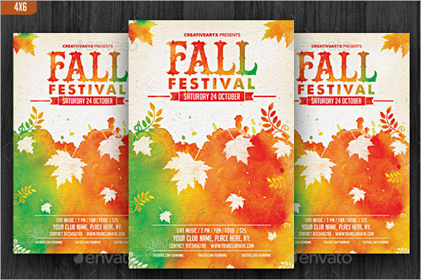 Minimalistic Fall Flyer Template