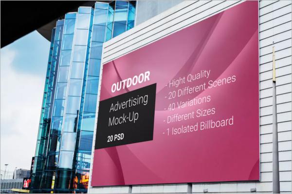 Minimalistic Outdoor Ad Mockup Design