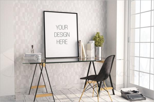 Minimalistic Photo Display Mockup Design