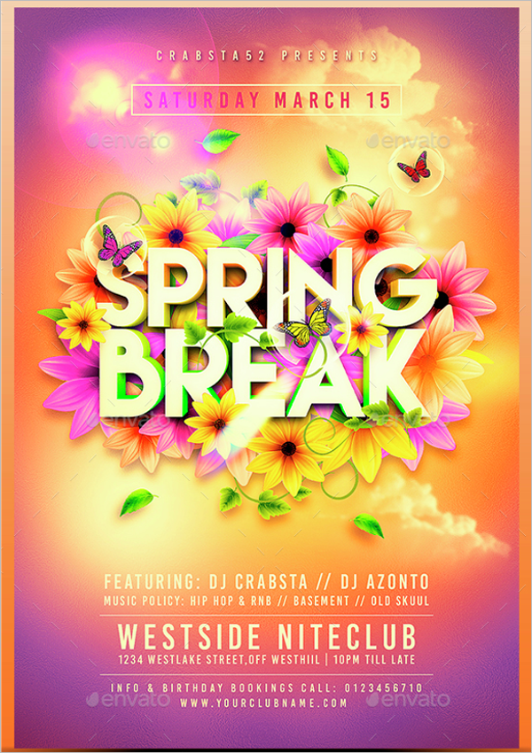 Minimalistic Spring Flyer Template