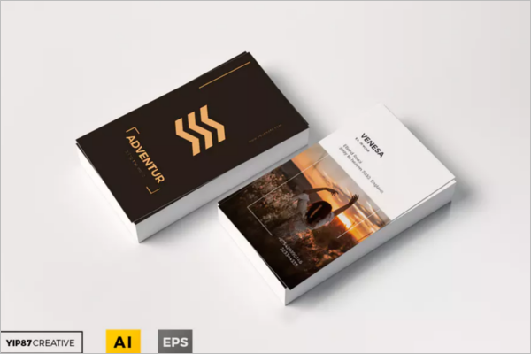 Minimalistic Travel Business Card Design