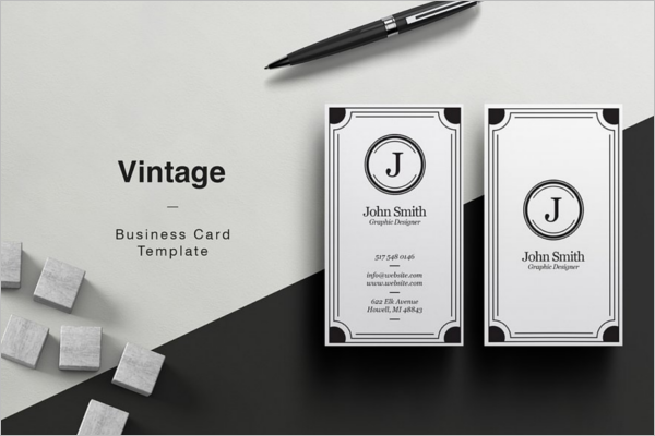 38 vintage business card templates free psd designs minimalistic vintage business card template wajeb Images