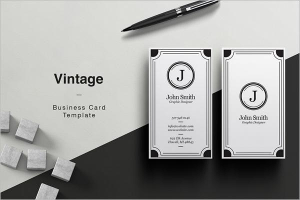 Minimalistic Vintage Business Card Template