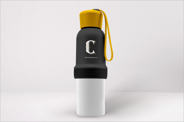 Minimalistic Water Bottle Mockup