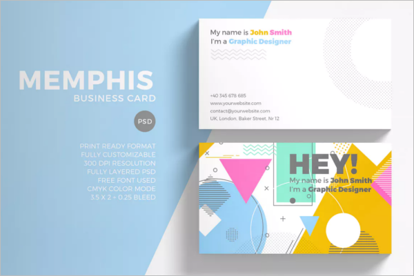 Mixed Color Business Card Design