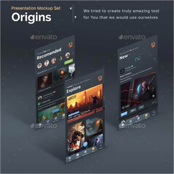 Mobile App Display Mockup Design