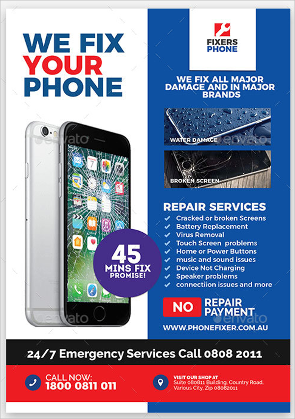Mobile Services Flyer Template