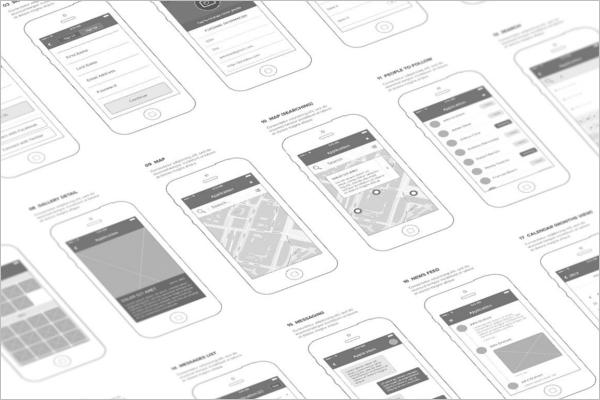 Mobile Wireframe Mockup Design