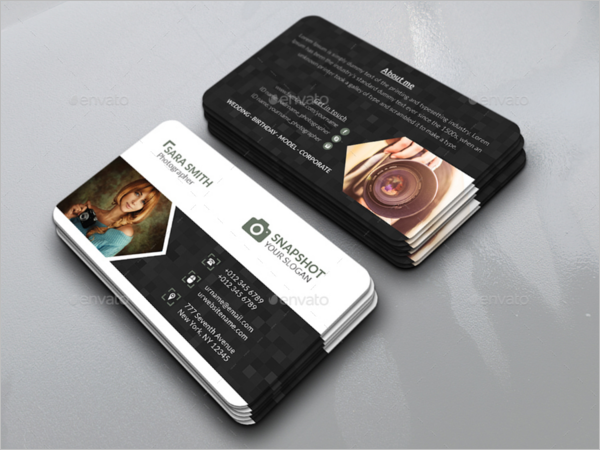 Model Photography Business Card Design