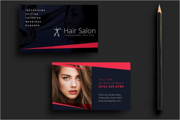 Modern Beauty Business Card Template