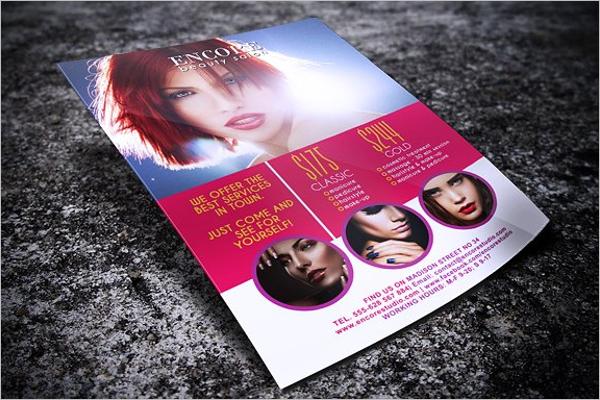 Modern Beauty Salon Flyer Template