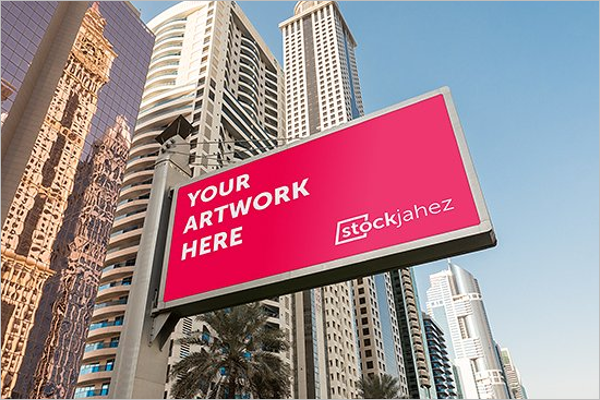 Modern Billboard Mockup Design