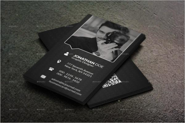 Modern Black & White Business Card