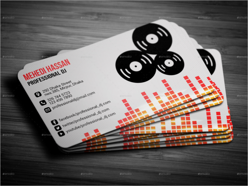 Dj business cards templates gallery business card template 32 dj business card templates free download creativetemplate modern dj business card template colourmoves wajeb Images