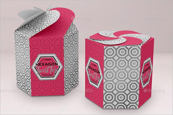 Modern Gift Box Mockup Template