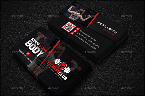 Modern Gym Business Card Design