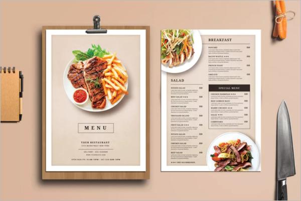 Modern Menu Design for Restaurant