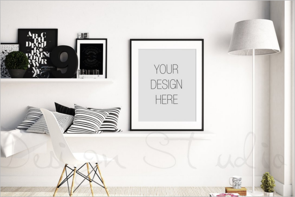 Modern Photo Display Mockup Template