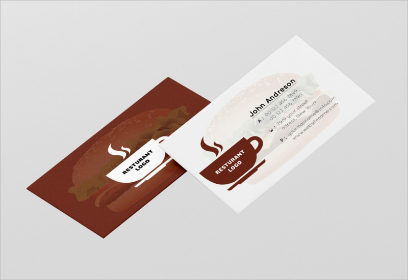 45 restaurant business cards templates psd designs modern restaurant business card template cheaphphosting Image collections