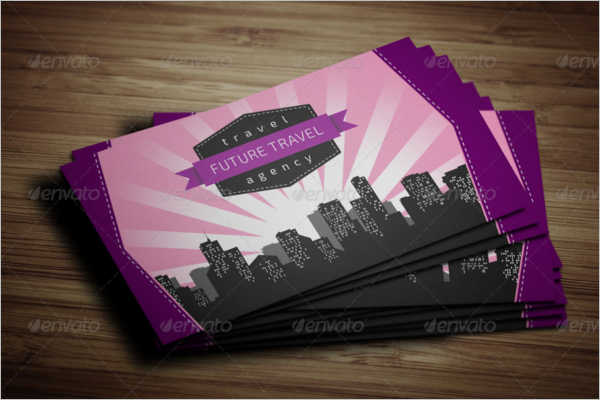 Modern Travel Agency Business Card Template