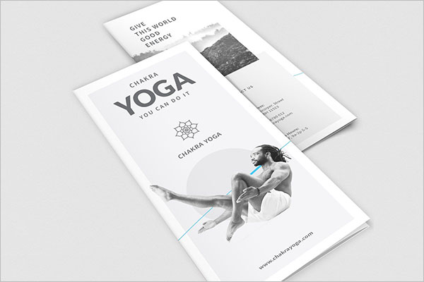 Modern Yoga Brochure Templates