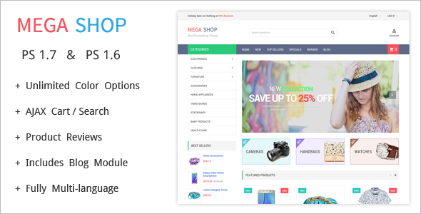 Most Popular Prestashop Theme