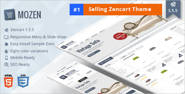 Most Popular Zen Cart Theme