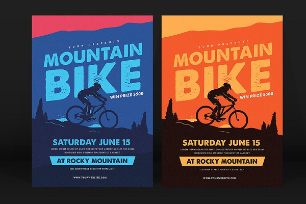 Mountain Racing Flyer Design