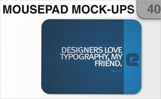 Mouse Pad Mockup PSD Design