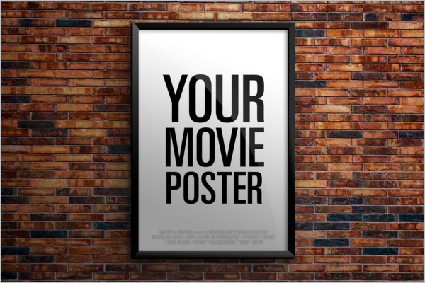 Movie Poster Mockup PSD Template