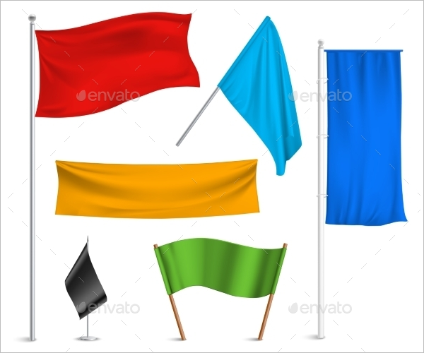Multi Color Flag Banner Design