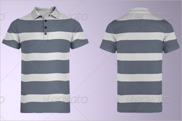 Multi Shaded Polo Shirt Mockup