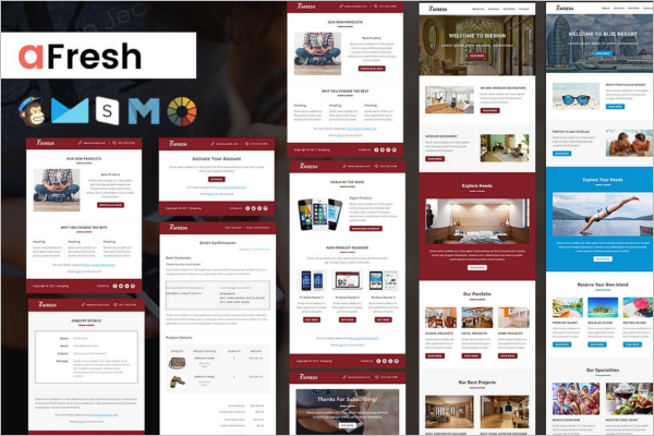 Multiple Designs For Email Template