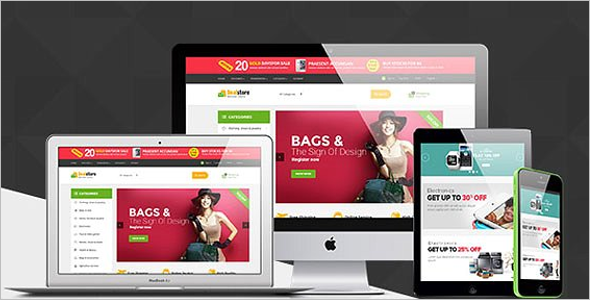 Multiple Store Prestashop Theme