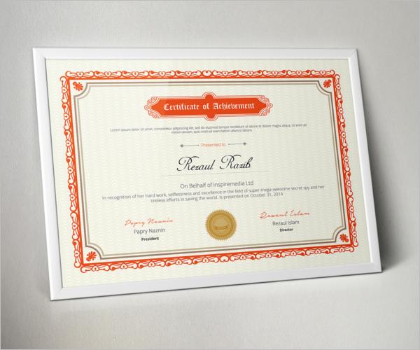 Multipurpose Certificate Template Free