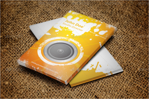 Music Studio Business Card Template