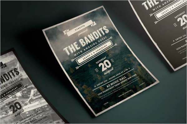 Music Typography Flyer Template