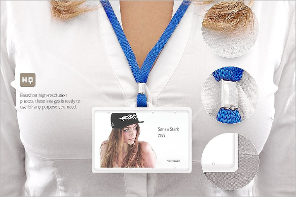 Name Badge Mockup Design