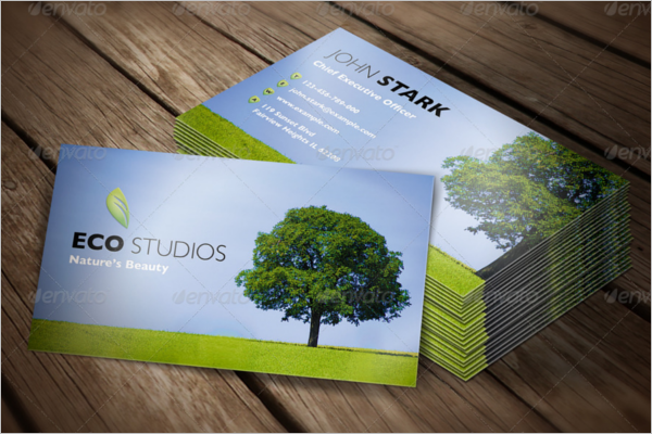 Nature's Beauty Business Card Template