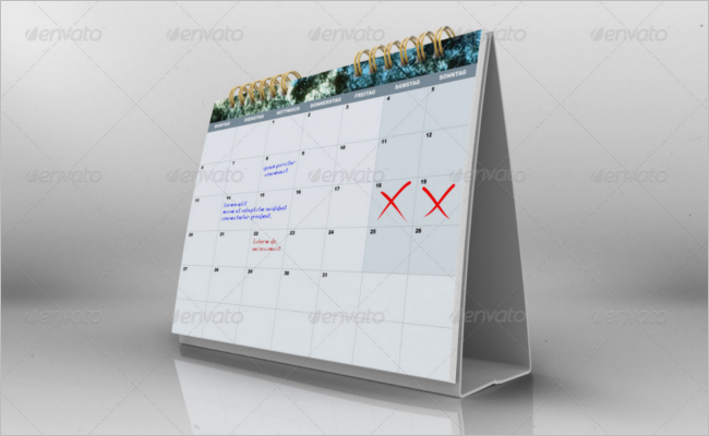 New Calender Mockup Template