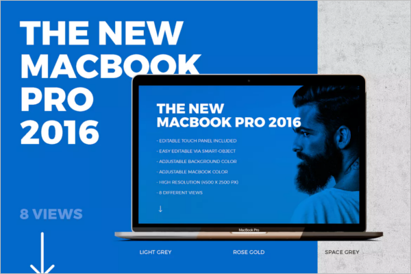 New Macbook Mockup Design