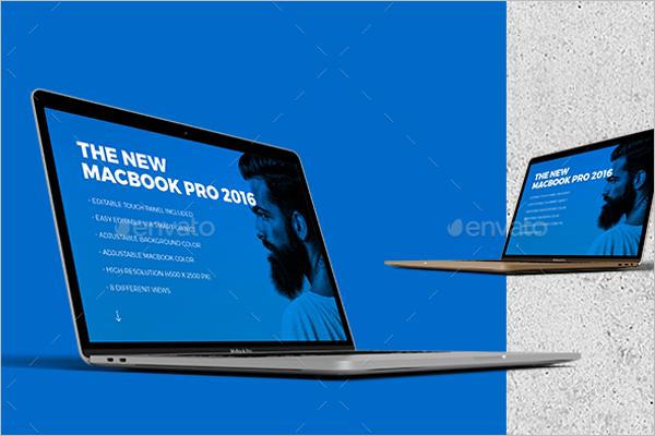 New Macbook Mockup Template