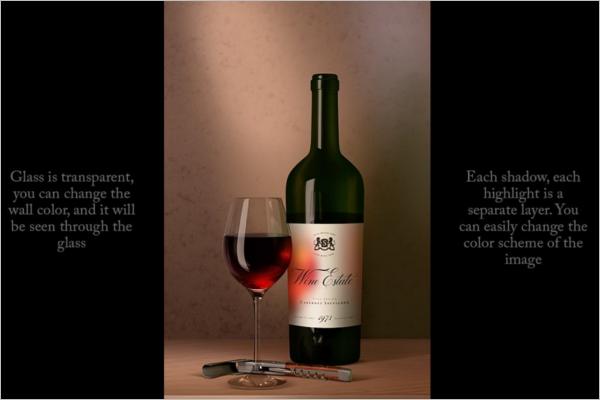 Latest Wine Bottle Mockup