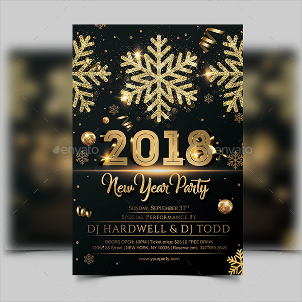 New Year Celebrations Flyer Template