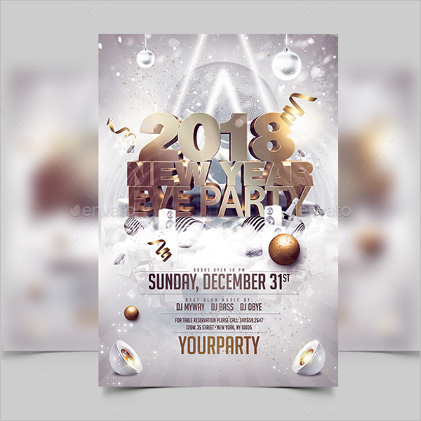 New Year Event Flyer Template