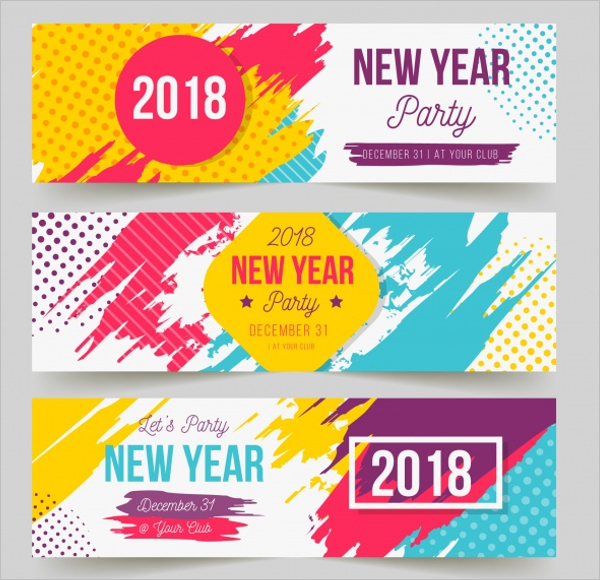 New Year Party Banner Design
