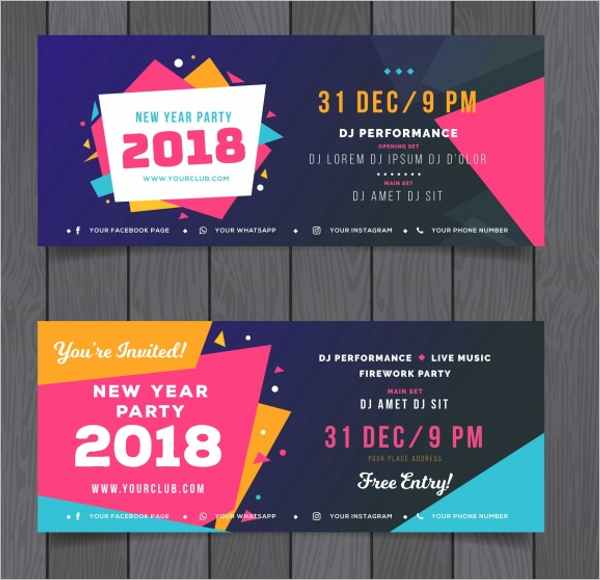 New Year Web Banner Template