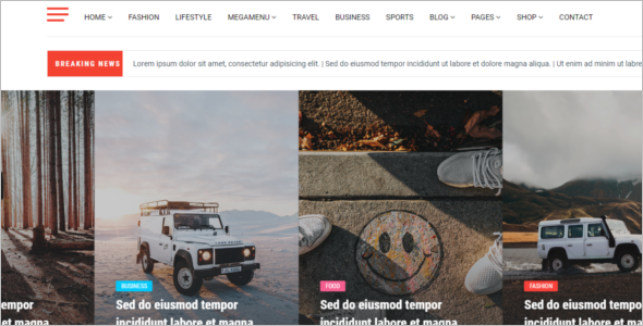 News & Magazine Blog Template