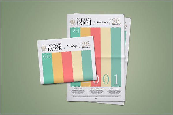 Newspaper Mockup Design