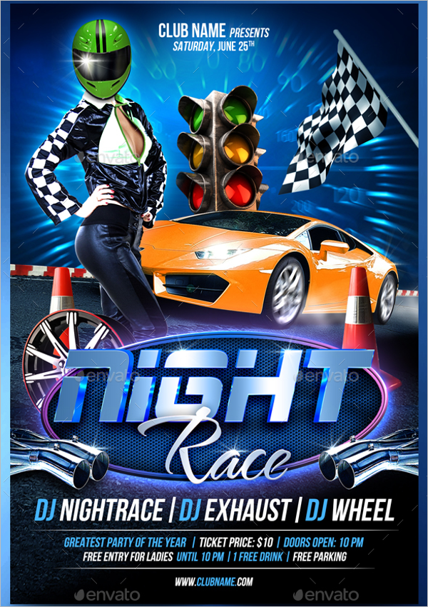 Night Racing Flyer Template